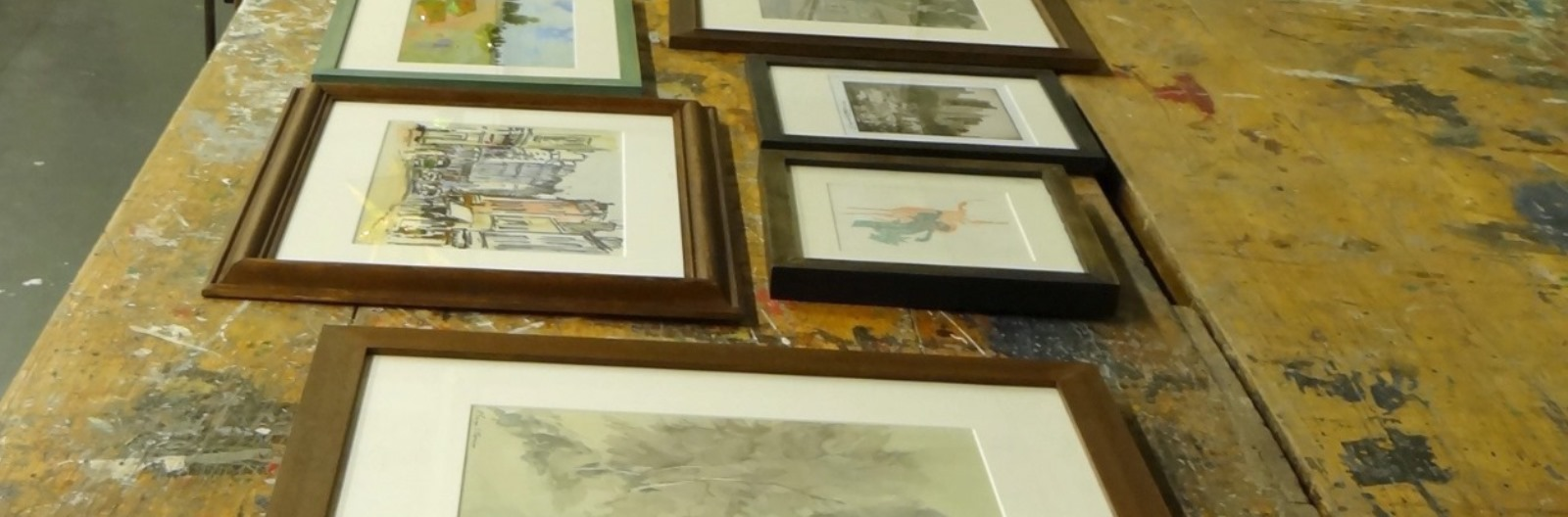 Picture framing watercolour