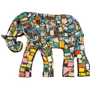 Specialist art elephant mosaic