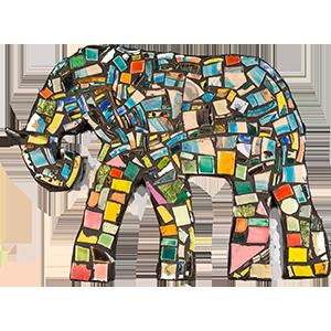 Specialist mosaics elephant