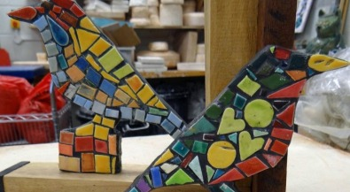 Enquiry bird mosaic