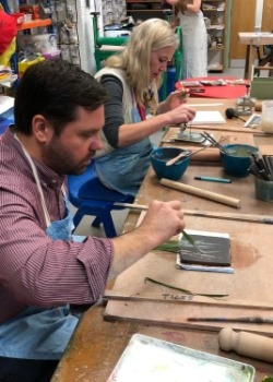 Arts and crafts public  workshop tiles