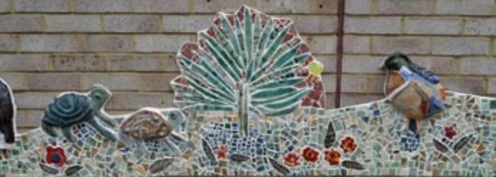 The long wall installation mosaic